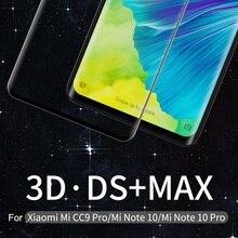 NILLKIN 3D DS MAX Schutz Screen Protector Für xiaomi mi note 10 Glas Für xiaomi mi note 10 pro Gehärtetem Glas CC9 Pro glas