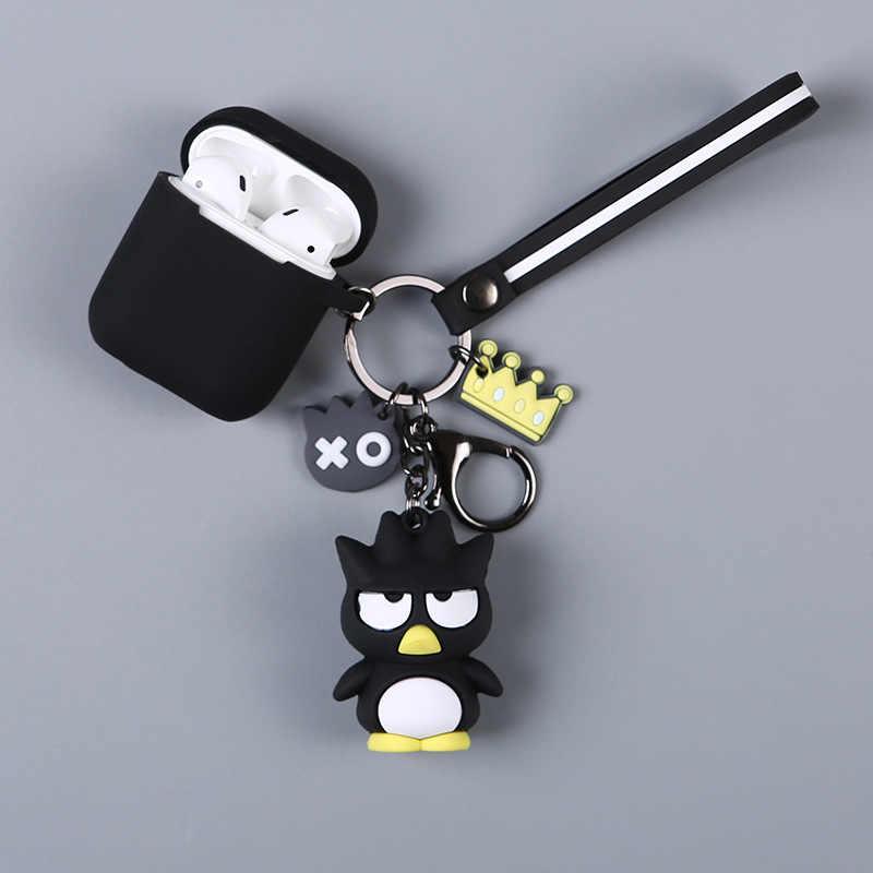 AirPods ためのかわいい保護カバー Bluetooth イヤホンための apple airpods2 アクセサリーキーホルダーメロディ