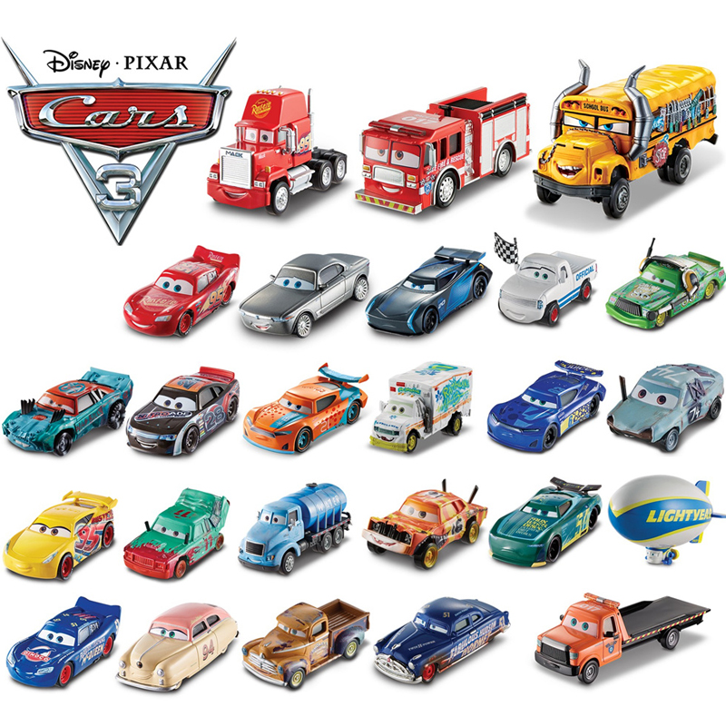 Nova disney pixar carros 3 relâmpago mcqueen cruz ramirez uncle mack jackson pintainho hicks modelo diecast carro menino brinquedos para crianças