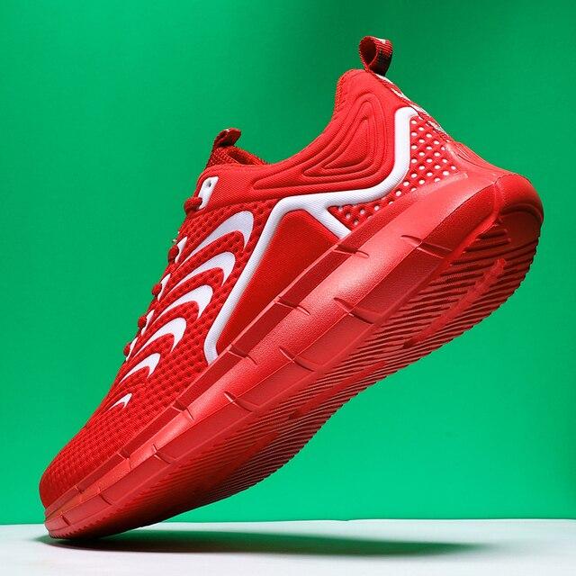 Zapatillas de correr para hombre, transpirables, diseño antideslizante, suela de amortiguación, zapatos deportivos de buena calidad para entrenamiento y trotar 3