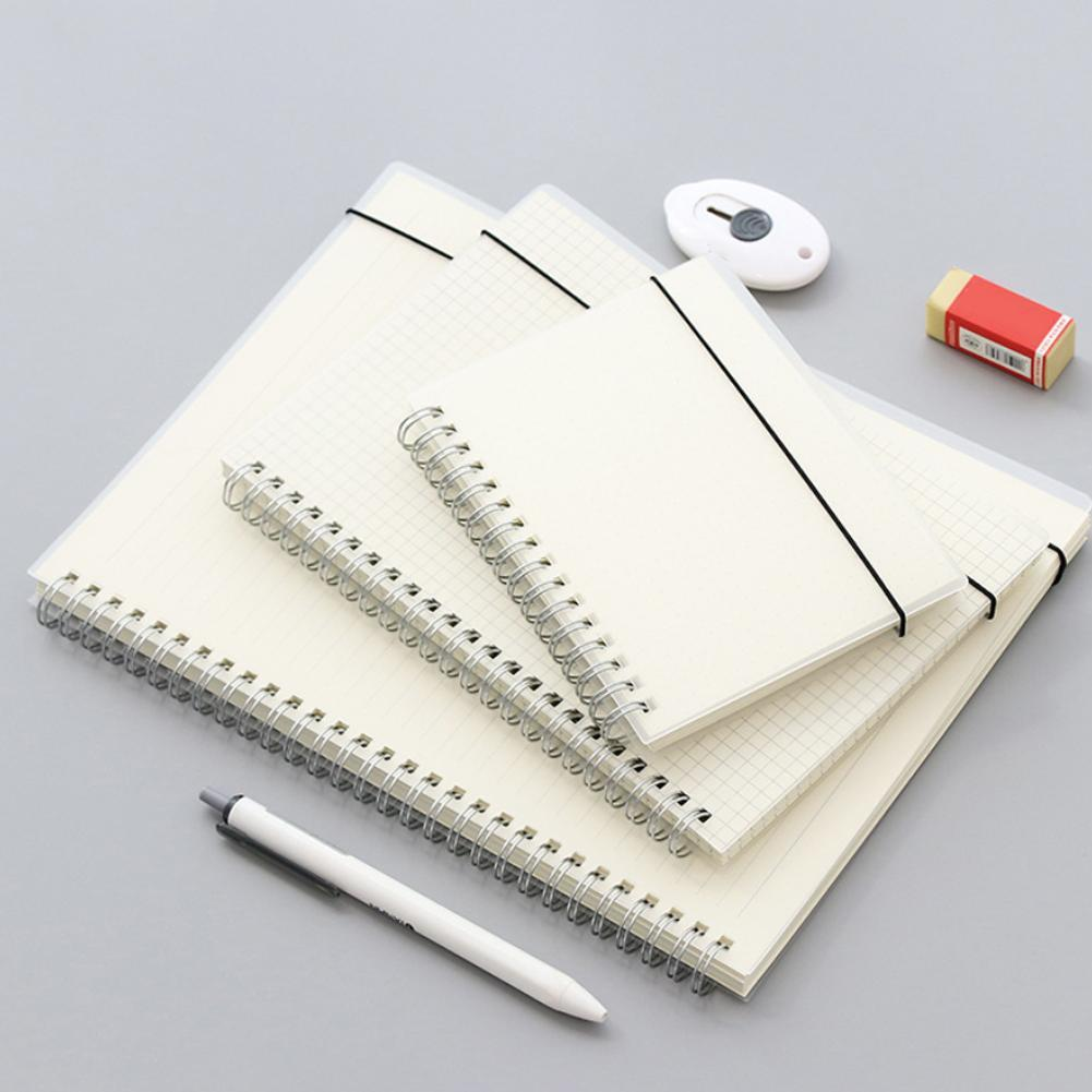 B5 A5 A6 Spiral Book Coil Notebook To-Do Lined DOT Blank Grid Paper Journal Diary Sketchbook For School Supplies Stationery