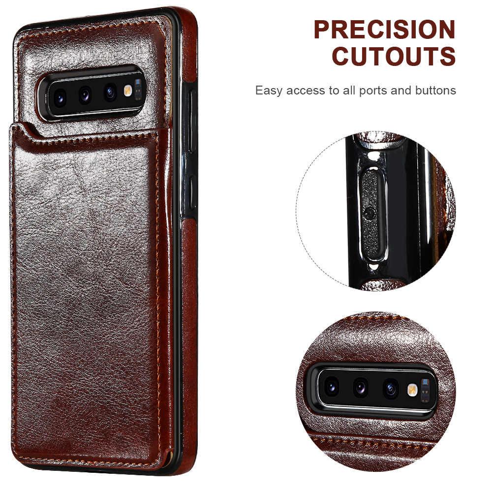 KISSCASE cuir portefeuille étui pour Samsung A50 étui fente pour carte support housse pour Samsung S10 Plus S8 9 7 Note 10 Plus A40 A70 Coque