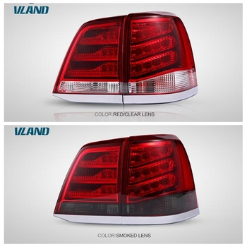 VLAND factory for car tail light for LAND CRUSIER LED taillight 2008 2011 2015 with turn signal+reverse light+DRL+brake light