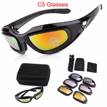Tactical Glasses Military Goggles Army Sunglasses 4 Lens Hun