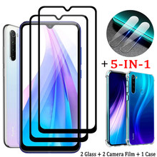 5-in-1, tempered glass case redmi note 8pro กระจกนิรภัย redmi note-8-pro แว่นตา redmi note 8t screen protector glass film redminote 8 pro xaomi 8t เคส note 8 pro redmi 8t xiaomi note 8 t case redmi8 8a redmi-note8t(China)