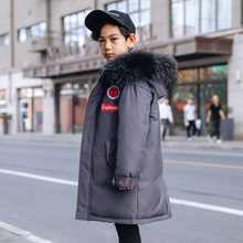 2019 Thicken Warm Down Jacket For Boys Winter Jacket Hooded Long Down Jacket For Boy 5-14 Years Teenage Coat Kids Parka For Girl children boys winter jacket kids clothes long hooded warm down jacket 2018 girls coat outwear teenage boys clothing 8 12 14 year