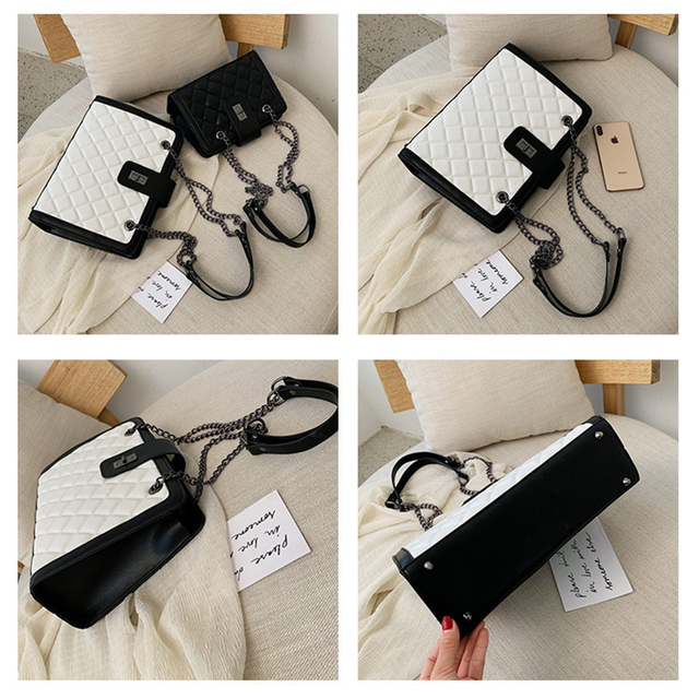 Women Leather Handbags Vintage Female Shoulder Bag Ladies Desinger Large Tote Bags for Girl Crossbody Bags Black Bag bolso mujer 3