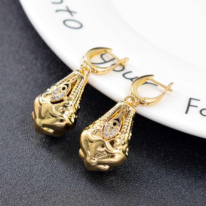 صني مجوهرات إسقاط أقراط مجوهرات الأزياء 2019 للنساء عالية الجودة الزركون استرخى أقراط العصرية للهدايا حفل زفاف