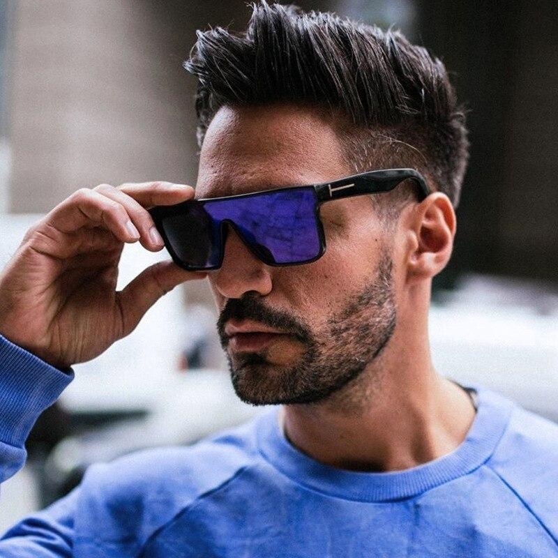 Солнцезащитные очки унисекс с логотипом TF для женщин и мужчин, 2021, uv400, высококачественные большие прямоугольные зеркальные солнцезащитные ...