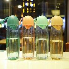 Bouteille d'eau en plastique pour filles, 550ML, Cactus, étanche, Portable, pour gymnase, école, sport, idée cadeau
