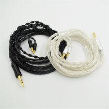 High-end 8-core atualizado cabo para sennheiser ie40 pro fone de ouvido de cobre banhado a prata linha de áudio substituição 1.2m