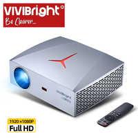 Projecteur VIVIBright Real Full HD 1080P F40, WIFI Bluetooth, projecteur vidéo 3D, bâton de télévision, PS4, HDMI pour le sport