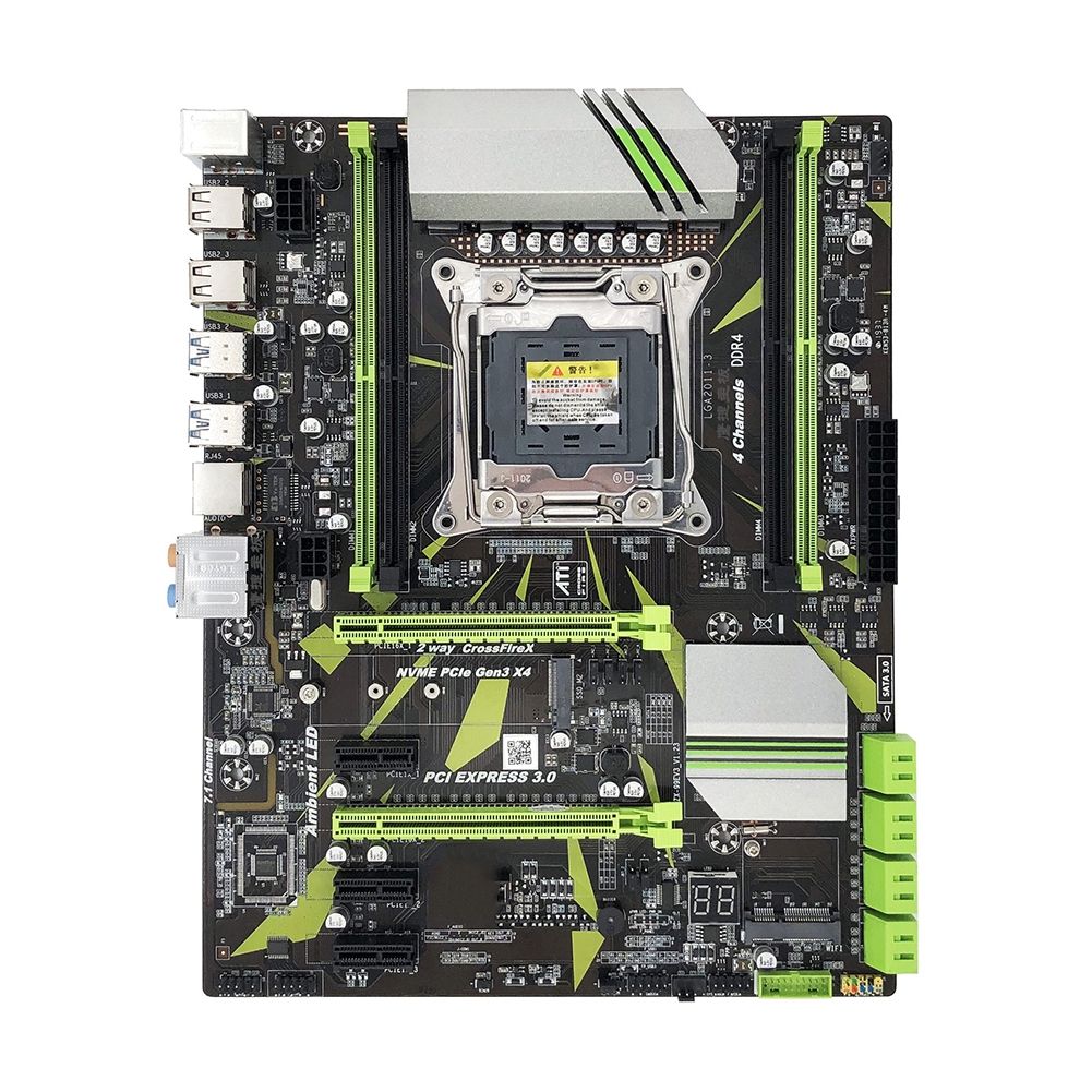 <font><b>X99</b></font> LGA 2011-V3 Motherboard REG ECC SATA 3.0 With M.2 SSD Four channel Memory DDR4 64G 2011 3 Mainboard LGA2011-3 for I7 Xeon E5 image