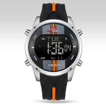 цена KT716 Fashion Brand Watches Men Sports Watches Waterproof LED Digital Quartz Men Military Wrist Watch Clock Relogio Masculino онлайн в 2017 году