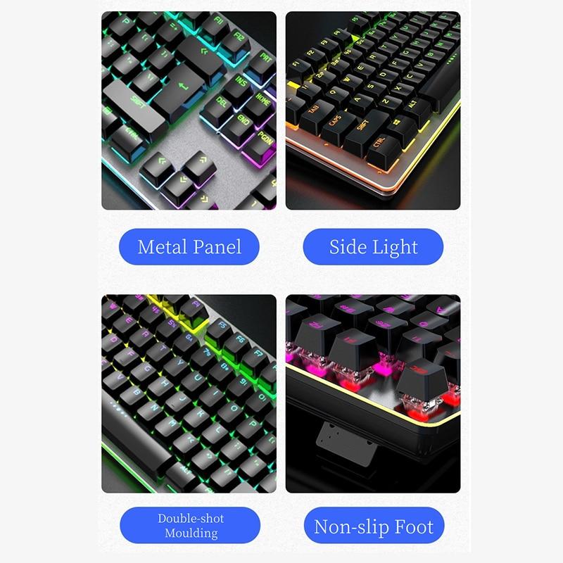 Купить настоящая механическая клавиатура с rgb подсветкой металлические
