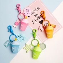 Heart Flying Through Keychain Cool Drink Cup Baking Paint Key Chain Web Celebrity Airpods Earphone Car Keyring Cute Woman cool flying