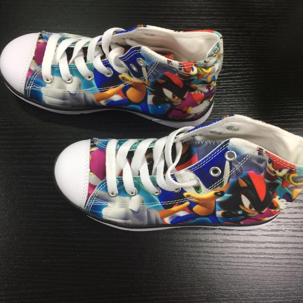 Image 5 - HYCOOL Children Running Shoes For Kids Boys Sonic the hedgehog Sneakers Outdoor Sports Shoes High Top Canvas Shoes Toddler ChildWalking Shoes   -