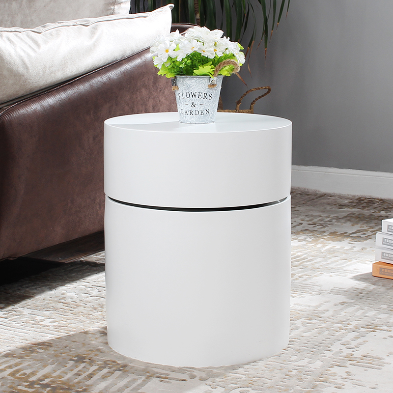 isa sofa side table living room coffee table round white bedside table with storage night table