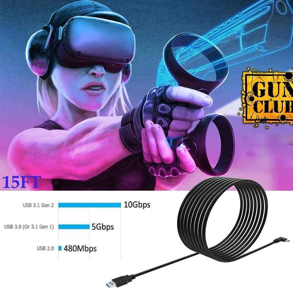 Meijunter USB 3.0 5Gbps Data Transfer Extension Cable for Oculus Quest Link Steam VR,USB Male to Female Type A Charging Cord