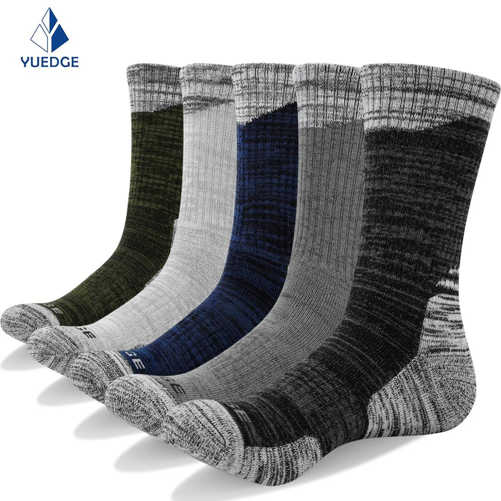 YUEDGE Men's Socks Brand New High Quality Cotton Business Antibacterial Deodorant Breathable Men's Stockings 5pairs / Lot