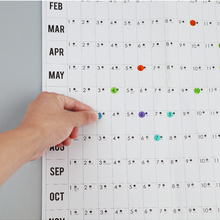 Wall-Calendar Daily Plan Office Home-Wall School Mark-Stickers Paper with 2pcs