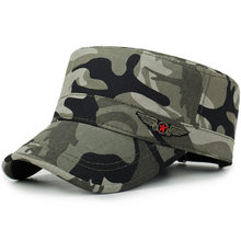 Chapeau militaire pour hommes et femmes, couleur unie, mode, Camouflage, casquette militaire, chapeaux de soleil réglables, Sports de plein air, chapeaux militaires