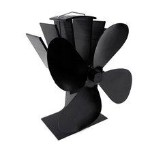 Изысканный мотор перерабатываемый экологически чистый материал мощность двухголовый вентилятор для камина термометр
