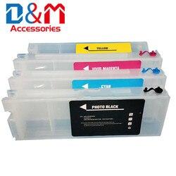 1 комплект многоразовых чернильных картриджей T41W2 T41W3 T41W4 T41W5 T41K для принтеров Epson, T3480, T5480, T41K, T41W2, T41W3, T41W3, T3480, T5480, чернильный бак для принтеров,...