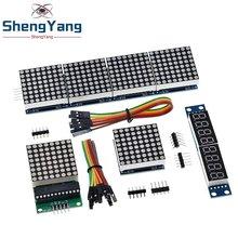 MAX7219 punto Módulo de matriz microcontrolador módulo Módulo de Control de módulo de pantalla 4 en una pantalla con 5P línea para Arduino