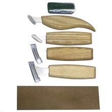 Ensemble de découpeur pour la sculpture sur bois 7 pièces, ciseau à main, bricolage outils de sculpture sur bois, couteaux à copeaux, outils à main pour menuiserie, ensemble de sculpture sur bois 7 pièces