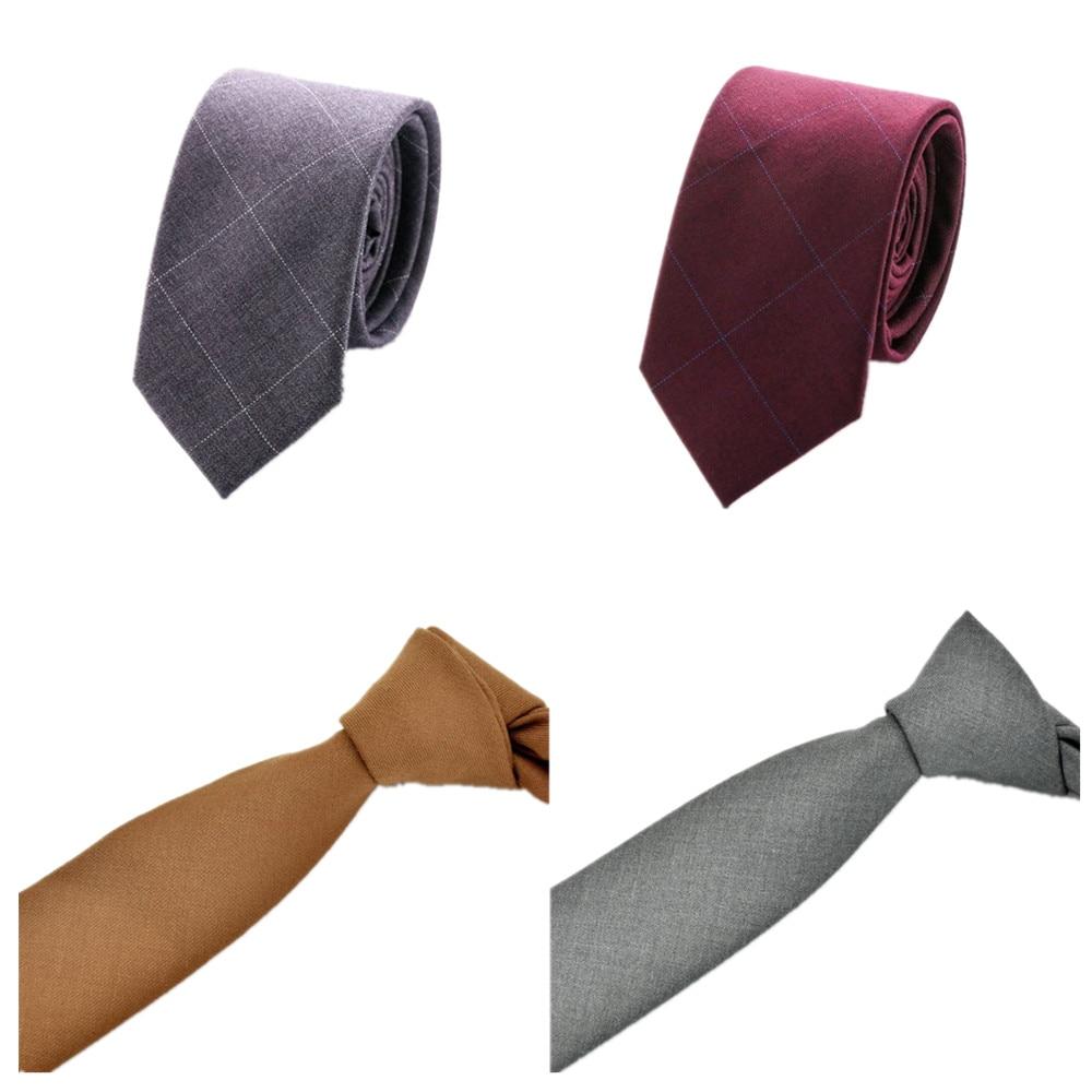 CityRaider Brand Gravata New Cravate Solid Slim Men's Wedding Necktie Mens Cotton Neckties Skinny Ties For Men Tie Brown LD088