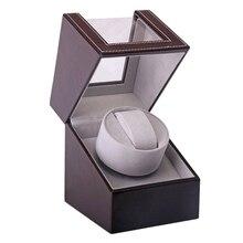אחסון ארגונית ארון תצוגת מנוע שייקר מחזיק אוטומטי מכאני שעון המותח תיבת מתפתל מקרה בעל צבע חום