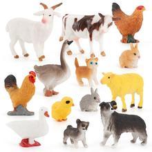Животное модель милый милый ПВХ милый ферма животное игрушка для фермы