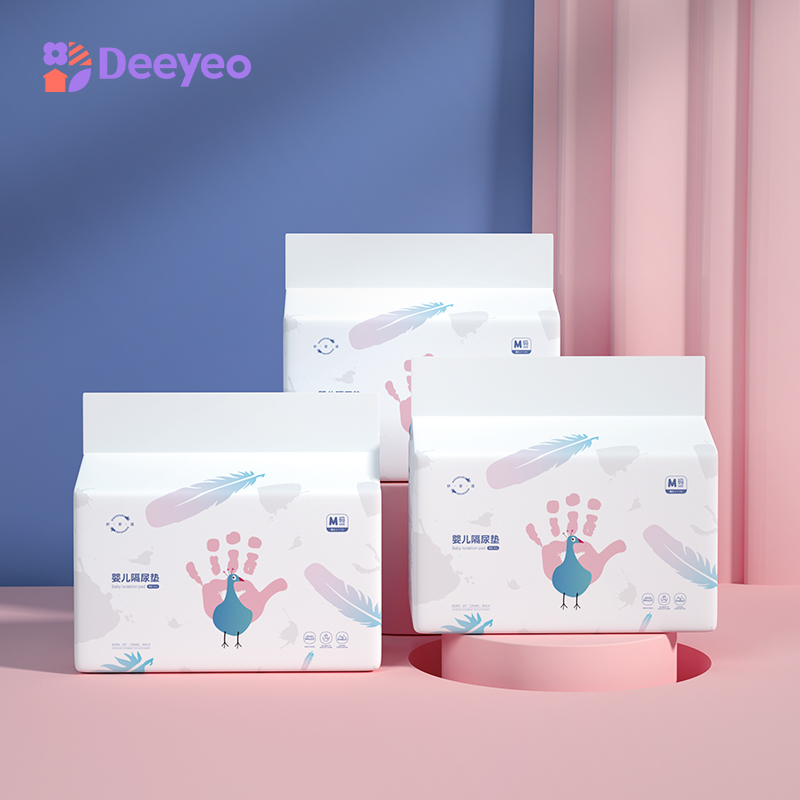Deyo Disposable Waterproof Diaper Newborn Baby Nappy Urine Mat Kids Simple Bedding Changing Cover Pad Sheet Protector 3packs