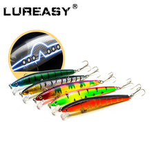 LUREASY  Minnow Fishing Bait 5cm 4.5g Wobblers Crank Rocker 5#Hook Artificial Hard fishing set