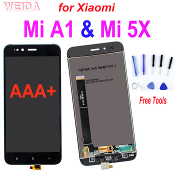 "AAA+ 5.5"" LCD For Xiaomi Mi A1 LCD MI 5X Display Touch Screen Digitizer Assembly With Frame Replacement For Xiaomi Mi5X Screen tested 6 44 for xiaomi mi max 3 max3 lcd display touch screen digitizer assembly replacement accessories for mi max3 lcd"