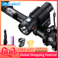 INBIKE Bicycle Flashlight Biking-Lamp Waterproof Rechargeable 1000 Lumens USB