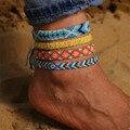 Браслеты-анклеты DIEZI женские в этническом богемном стиле, ажурные украшения ручной работы в стиле бохо, винтажные хлопковые веревки для ног,...