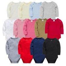 Newborn Baby Jumpsuit Onesie Long-Sleeve Bebe Infant Cotton De 0-24M Roupas