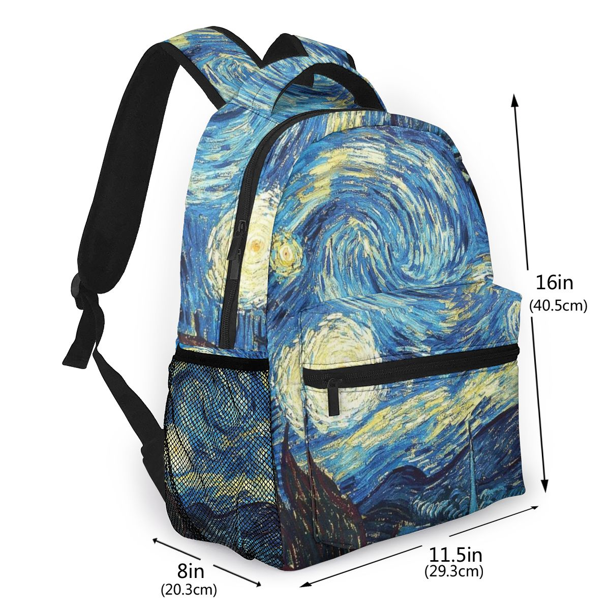 <font><b>Canvas</b></font> Backpack Children Van Gogh 2020 Fashion Oil Painting <font><b>Mochila</b></font> for Teenager Boy Girls <font><b>Escolar</b></font> Laptop Free Dropshipping image
