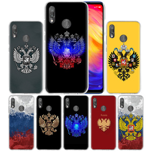 Case Cover for Xiaomi Redmi Note 7 7A 7S 6 6A 5 Y3 K20 Mi 8 9T CC9 CC9E A1 A2 A3 Play F1 Lite Pro Plus russia Flag coat of arms(China)