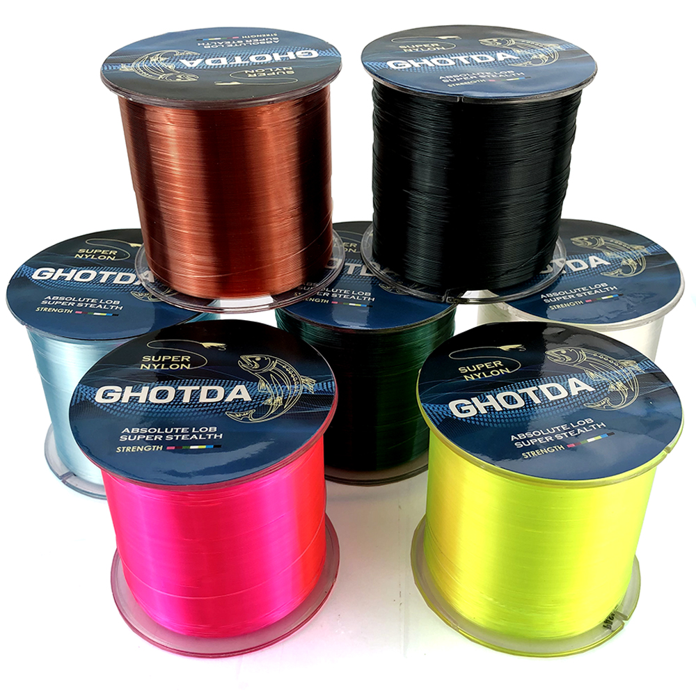 GHOTDA 500M Nylon Fishing Line Japanese Durable Monofilament Rock Sea Fishing Line title=