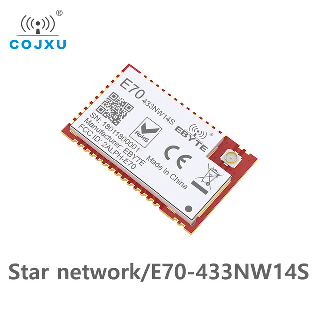 E70 433NW14S نجوم الشبكات CC1310 433 mhz مصلحة الارصاد الجوية جهاز الإرسال والاستقبال اللاسلكي IoT 14dBm 433 mhz IPEX هوائي الارسال والاستقبال