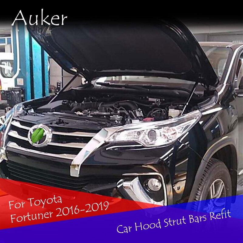 Для Toyota Fortuner 2016, 2017, 2018, 2019, автомобильный капот, гидравлический стержень, пружинный упор, ударные прутки, кронштейн, автомобильный Стайлинг|Хромирование| | АлиЭкспресс