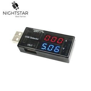 USB Tensão Tester Atual USB Voltímetro Amperímetro Detector Duplo Row Mostra Cor Preta