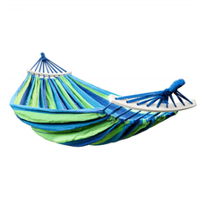 Outdoor Double Canvas Hammock Portable Travel Survival Hunting Camping Hanging Chair Swing Chair Hammock Tent Dropshipping tanie tanio CN (pochodzenie) Modern Meble ogrodowe Dwie osoby Dorosłych Mulit Colors Hamak 200*150cm Portable lightweight Durable Hammock swings