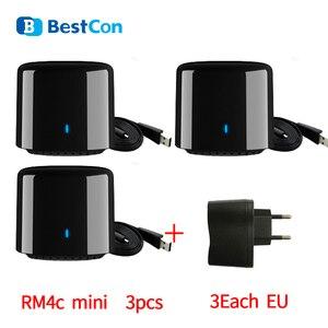 Image 1 - 3 pièces Broadlink RM RM4C ue télécommande intelligente IR maison intelligente Bestcon SCB1E commutateur WIFI fonctionne avec Sonoff Google Home