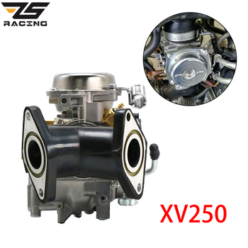 ZS Racing Motorcycle 26mm Carb Carburetor With Adapter Manifold For Yamaha VX 250 Virago 250 V-star 250 Route 66 1988-2014