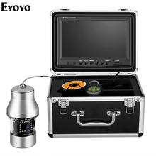 Eyoyo 9inch 1000TVL Underwater DVR Fish Finder Large Color Screen 360° Horizontal Panning Camera for Lake Sea Boat Ice Fishing