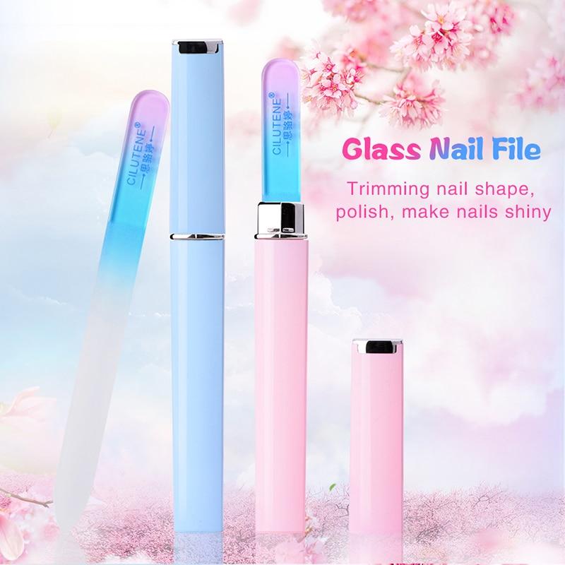 Durable Crystal Glass Nail Files Buffer Manicure Device Fine Nail Art Decoration Sanding Buffer Block Pedicure Nail Tools